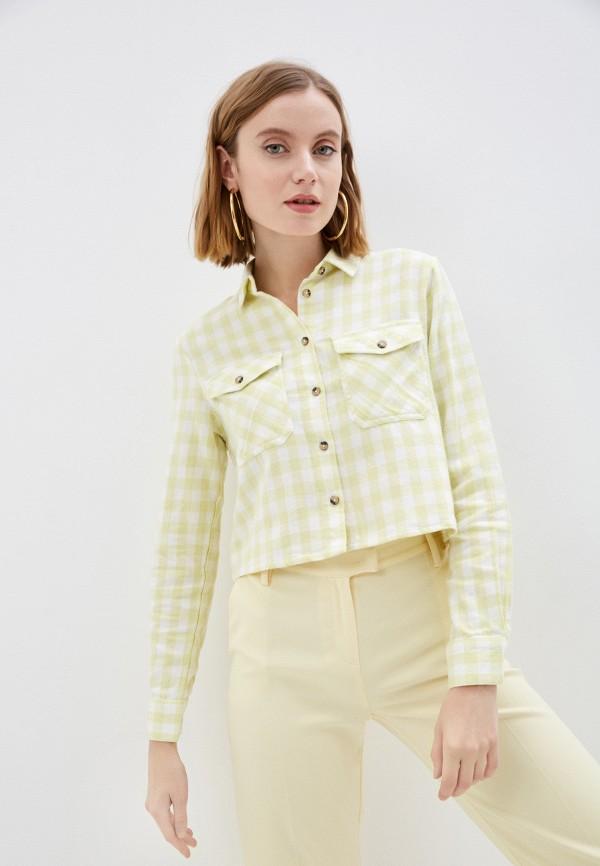 женская рубашка с длинным рукавом pimkie, зеленая