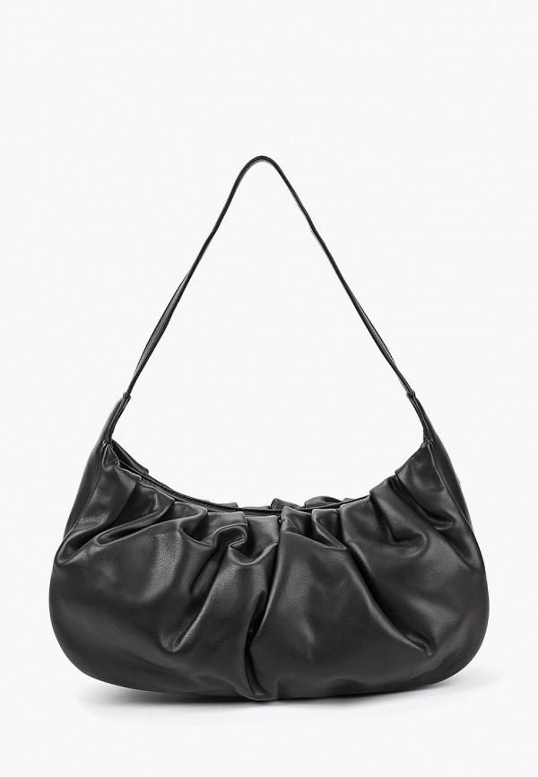 женская сумка с ручками pieces, черная