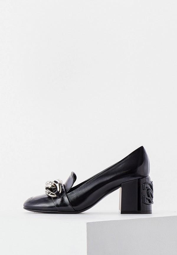 женские туфли с закрытым носом casadei, черные