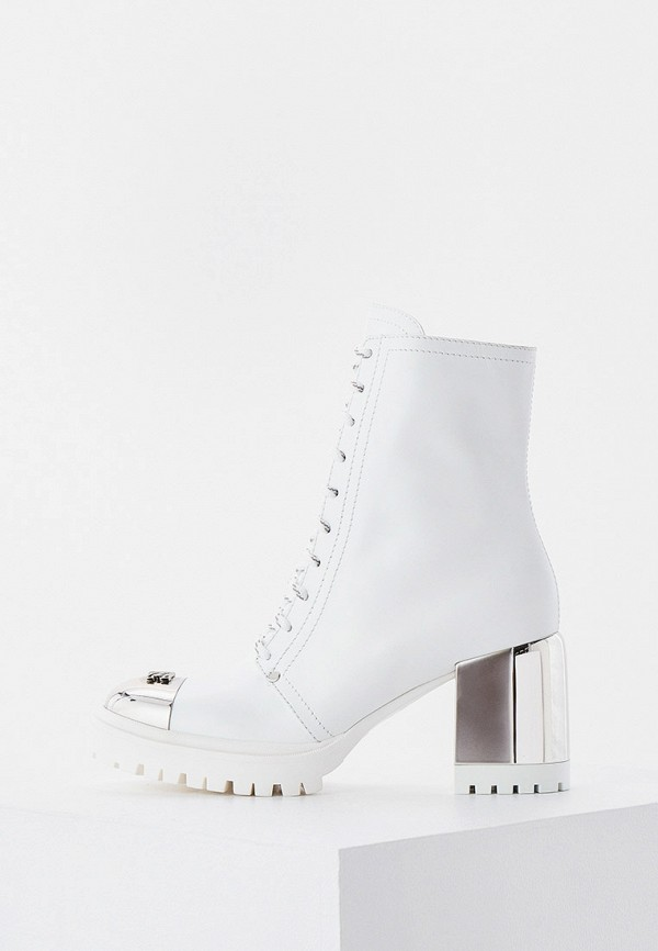 женские ботильоны casadei, белые