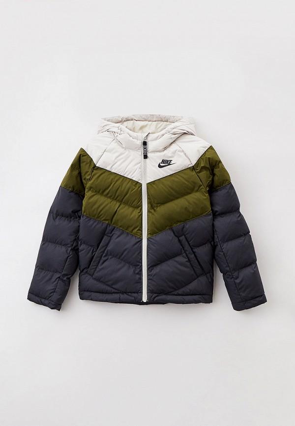 утепленные куртка nike малыши, разноцветная