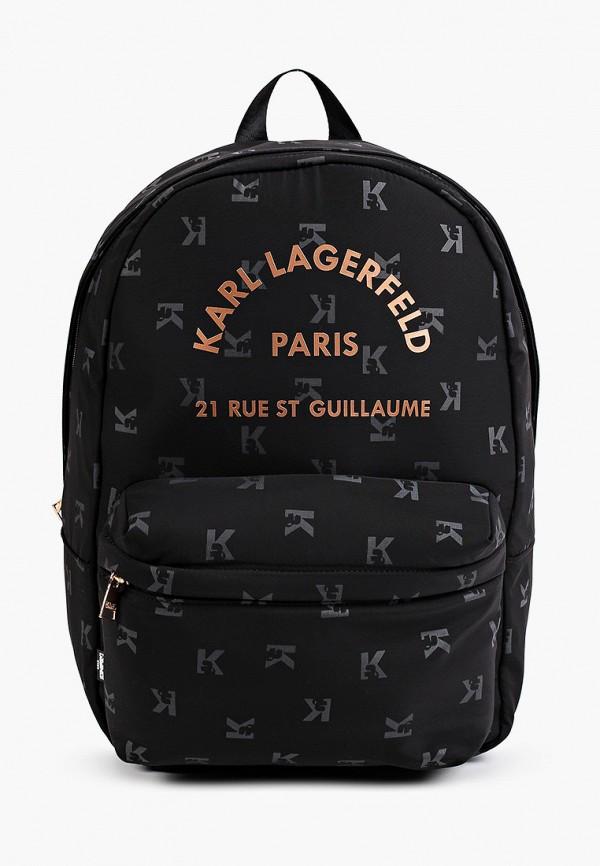 рюкзак karl lagerfeld kids для девочки, черный