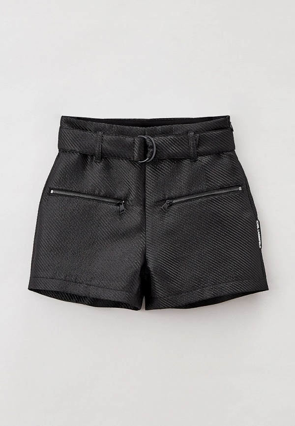 шорты karl lagerfeld kids для девочки, черные