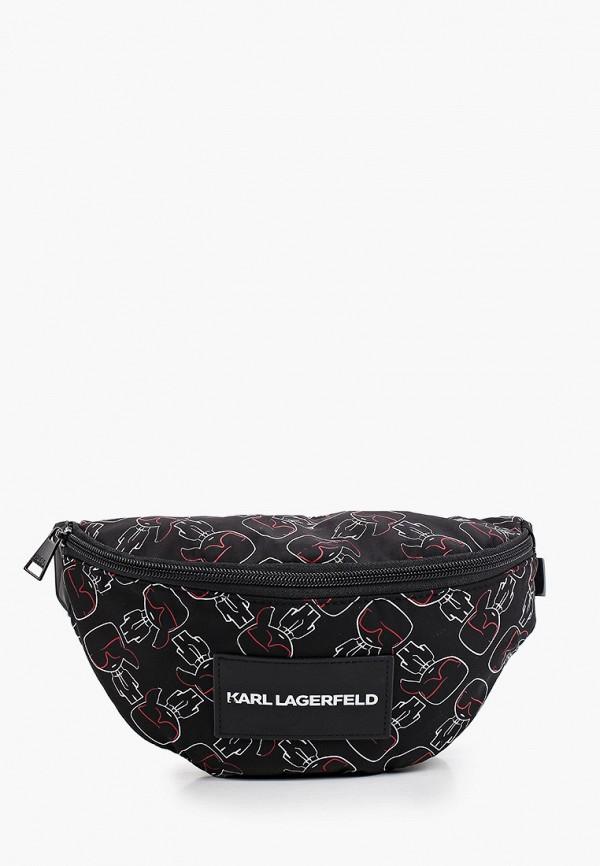 поясные сумка karl lagerfeld kids малыши, черная