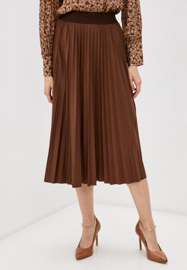 женская юбка rich&royal, коричневая