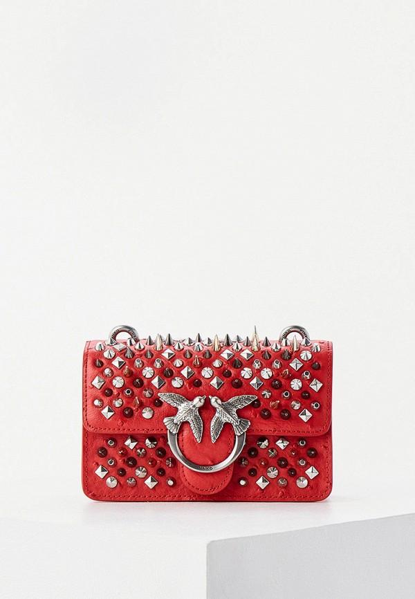 женская сумка pinko, красная