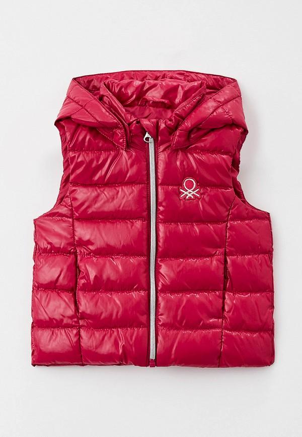 утепленные жилет united colors of benetton для девочки, розовый