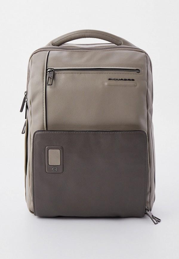 мужской рюкзак piquadro, серый