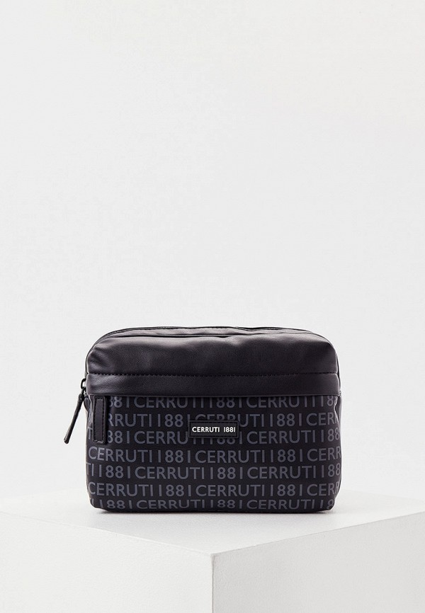 мужская поясные сумка cerruti 1881, черная