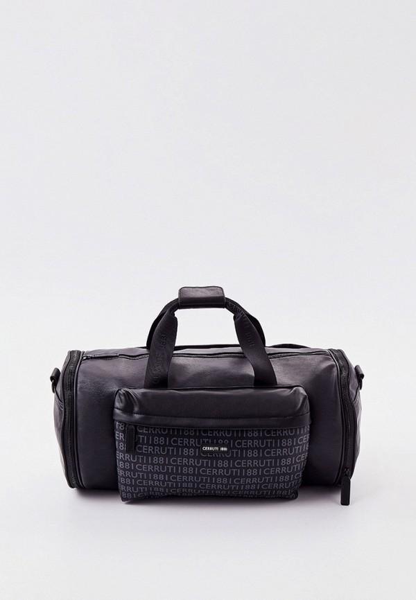 мужская дорожные сумка cerruti 1881, черная