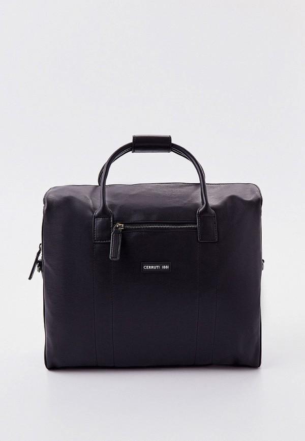 мужская сумка с ручками cerruti 1881, черная