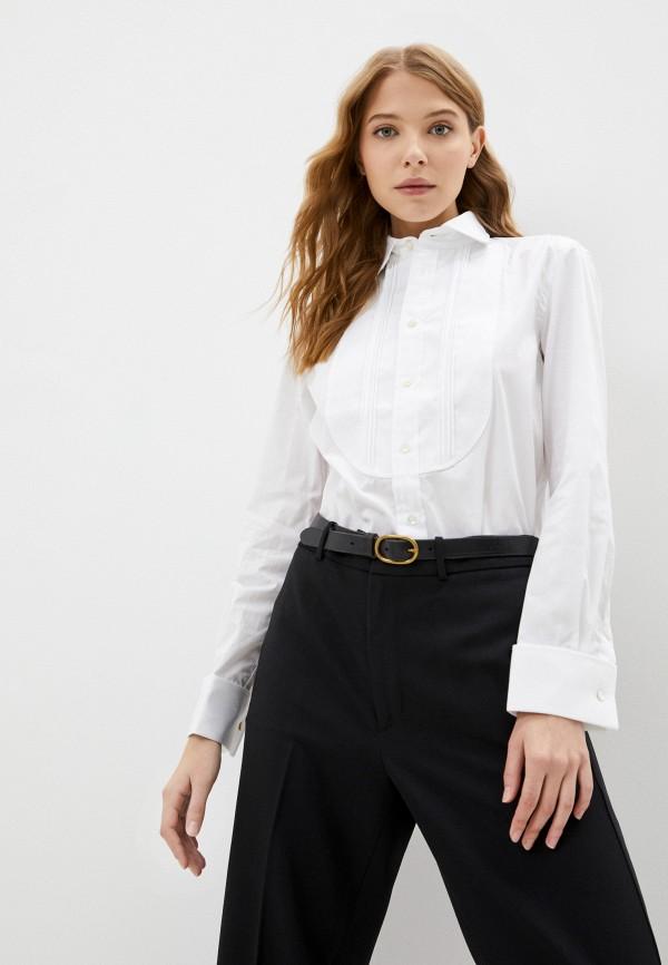 женская рубашка polo ralph lauren, белая