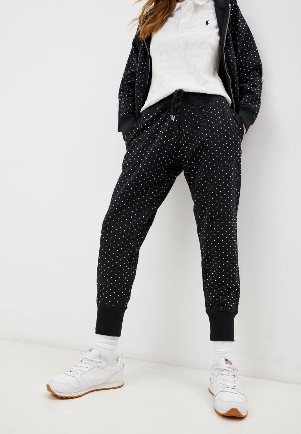 женские спортивные брюки polo ralph lauren, черные