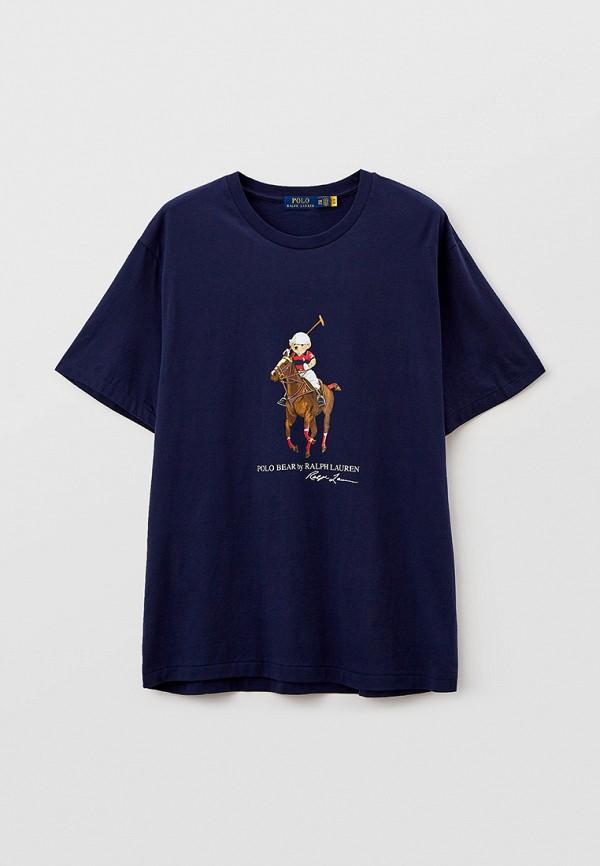 мужская футболка polo ralph lauren big & tall, синяя