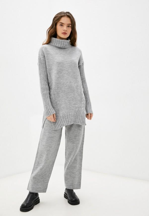 женский вязаные костюм moona store, серый
