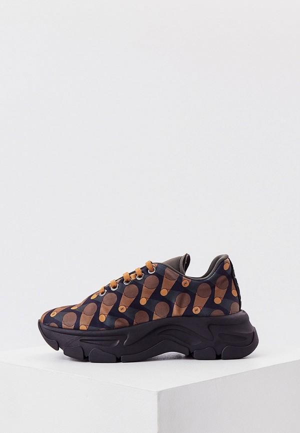 женские низкие кроссовки fabi, коричневые