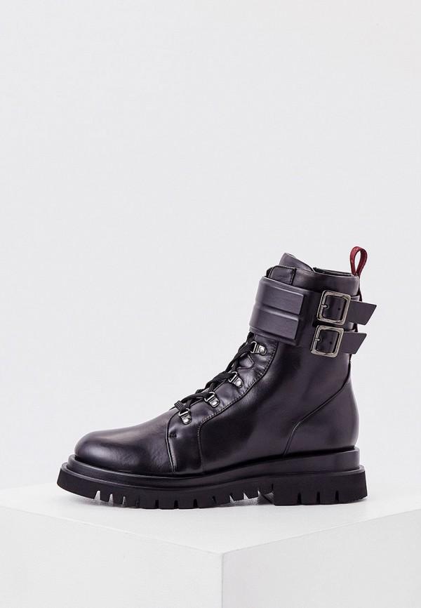 женские высокие ботинки fabi, черные