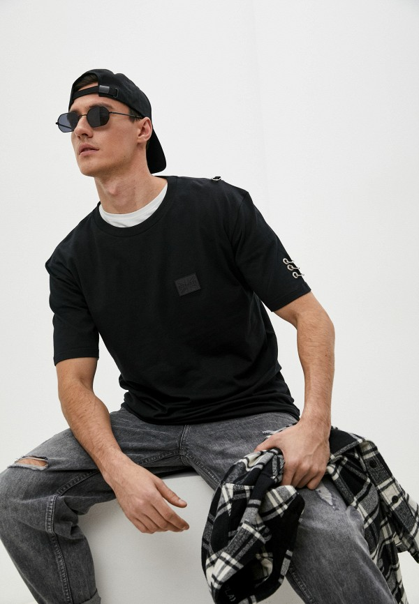 мужская футболка john richmond, черная
