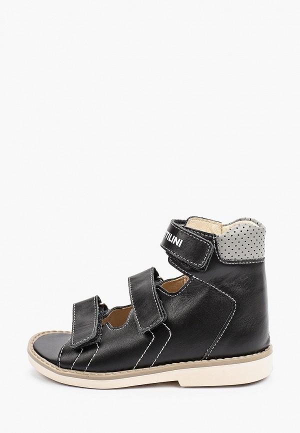 сандалии bottilini для мальчика, черные