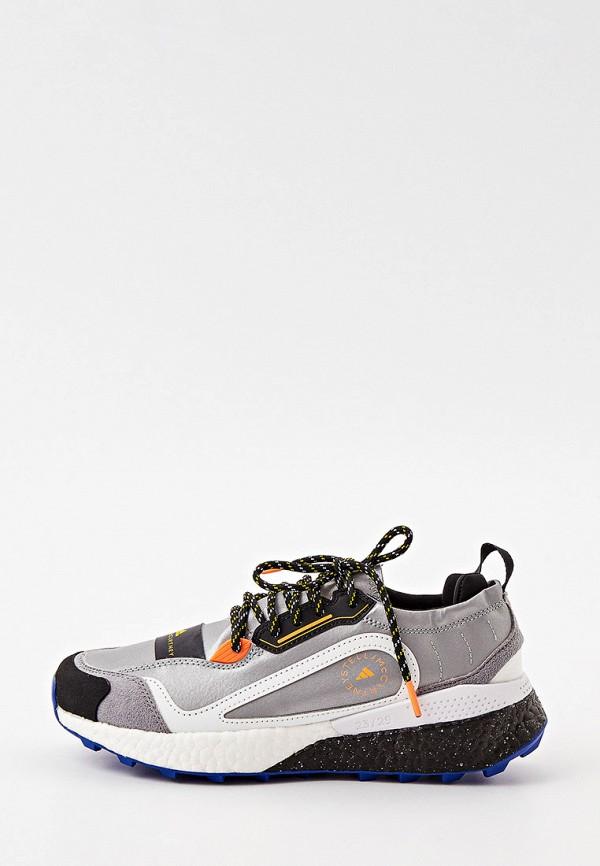 женские низкие кроссовки adidas by stella mccartney, серебряные