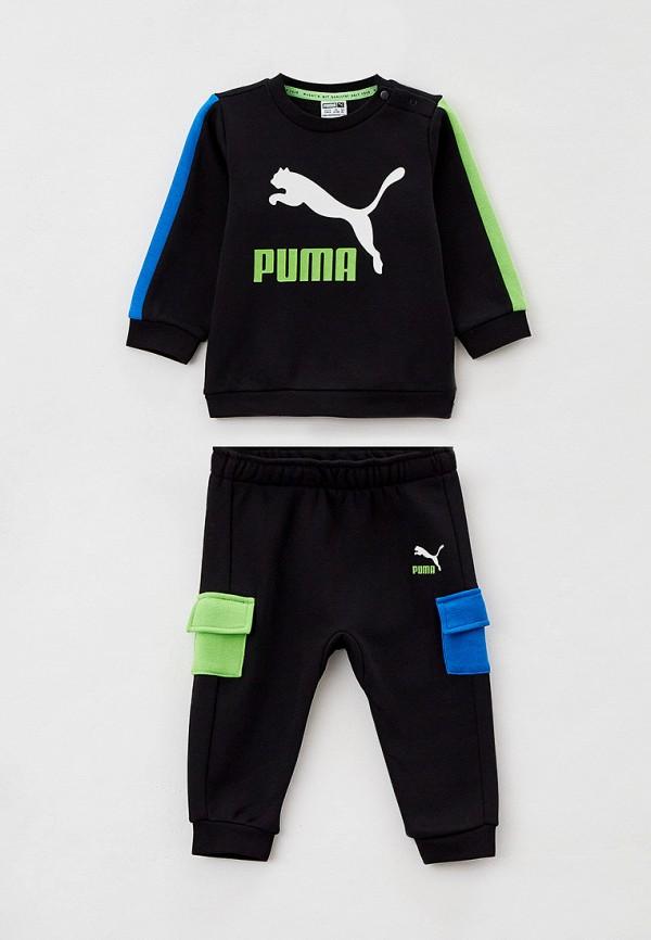 спортивный костюм puma для мальчика, черный