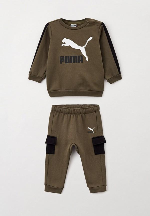 спортивный костюм puma для мальчика, хаки