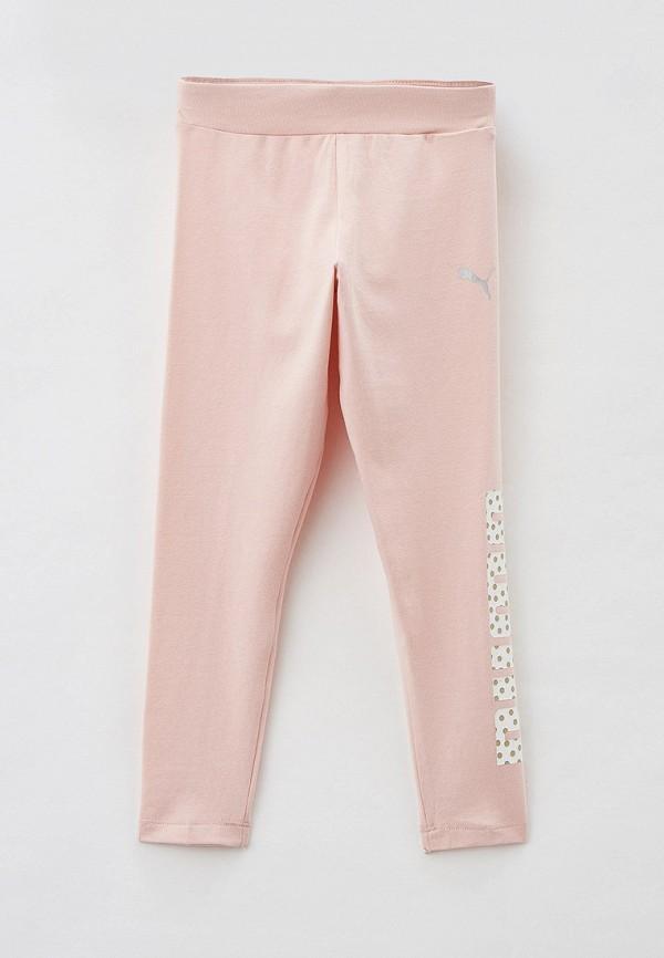 леггинсы puma для девочки, розовые