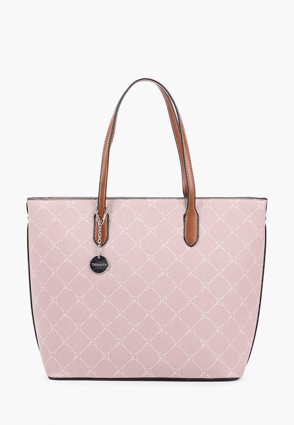 женская сумка с ручками tamaris, розовая