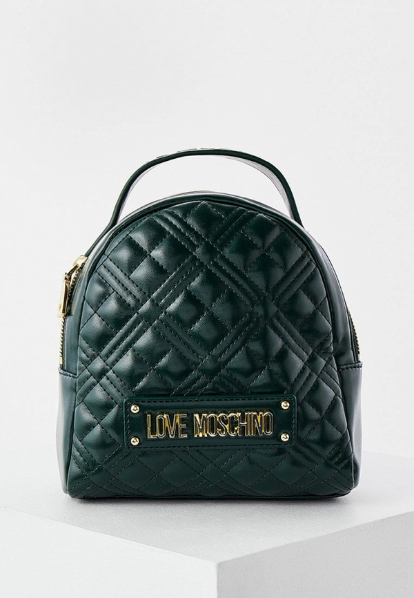 женский рюкзак love moschino, зеленый