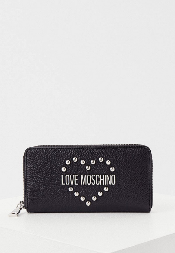 женский кошелёк love moschino, черный