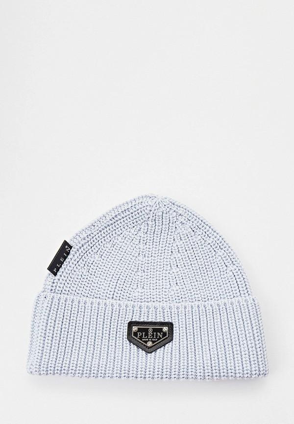 женская шапка philipp plein, голубая