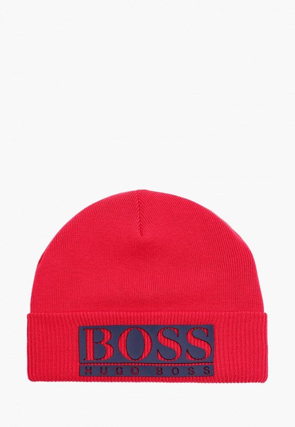 шапка boss для мальчика, красная