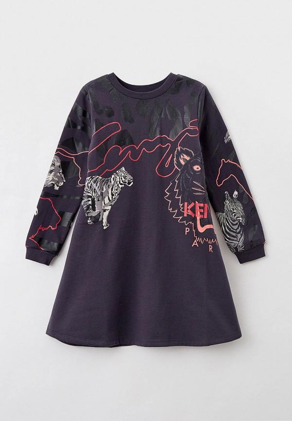 повседневные платье kenzo для девочки, серое
