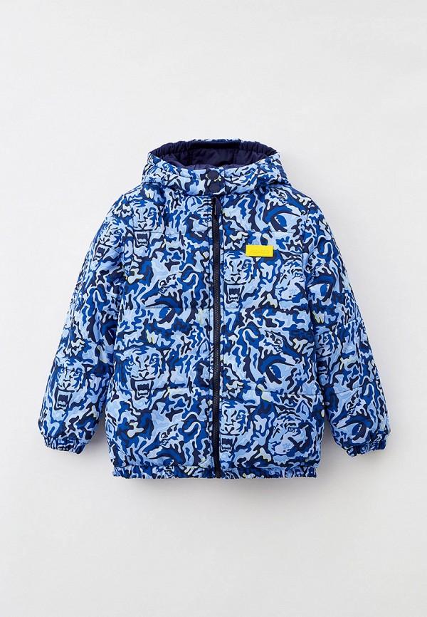 утепленные куртка kenzo для мальчика, синяя