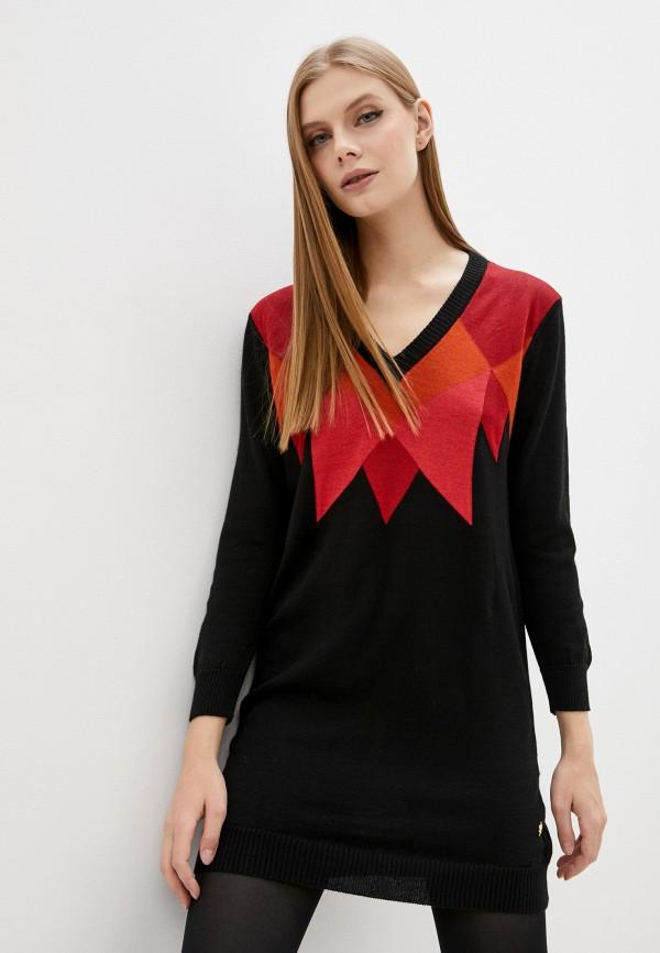 женское платье trussardi, черное