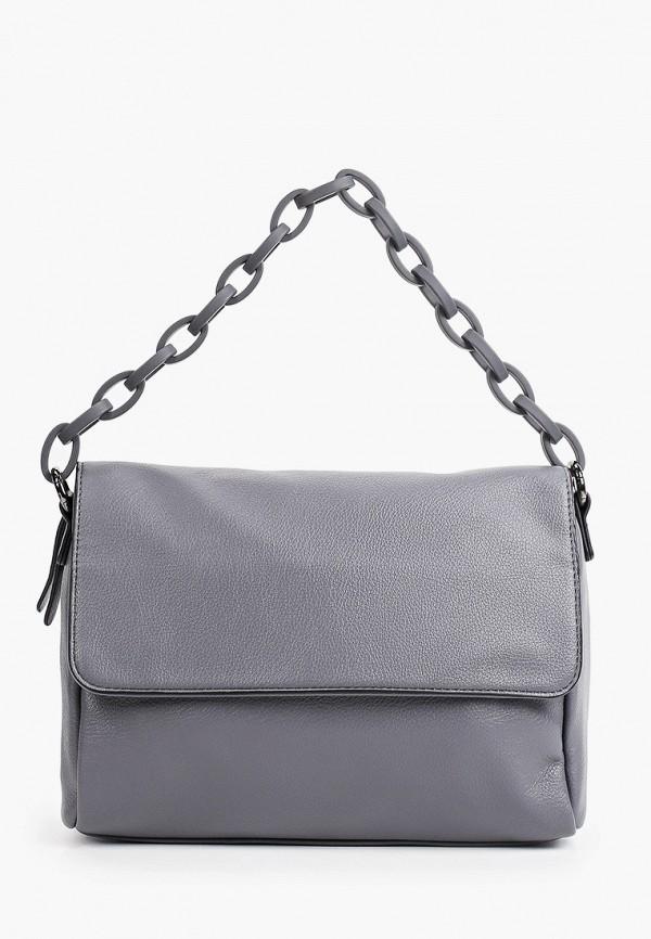 женская сумка через плечо baggini, серая