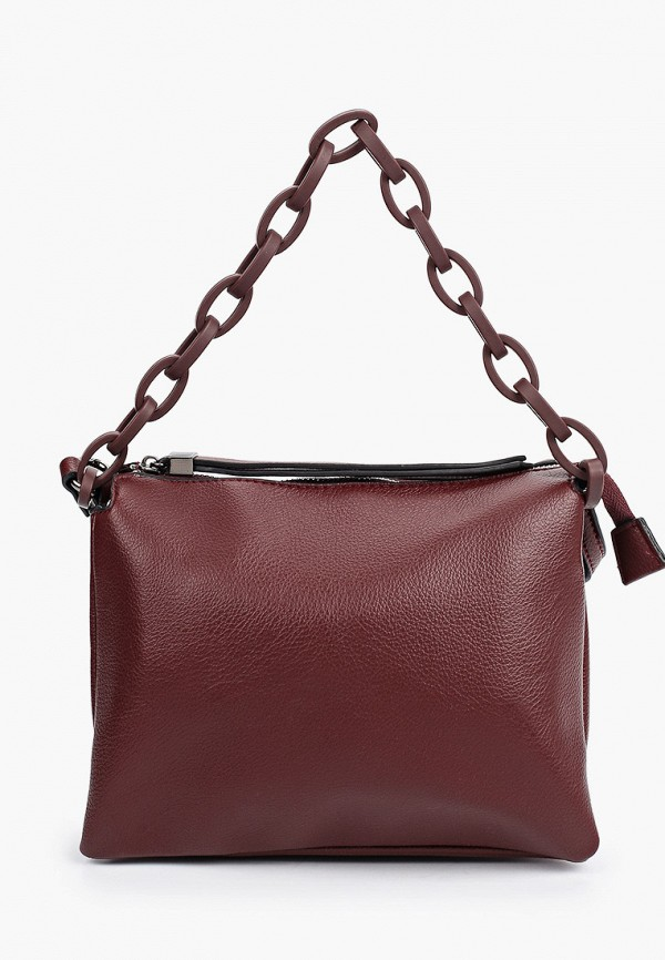женская сумка с ручками baggini, бордовая