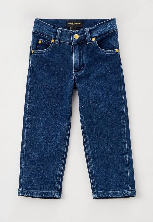 джинсы mini rodini для девочки, синие