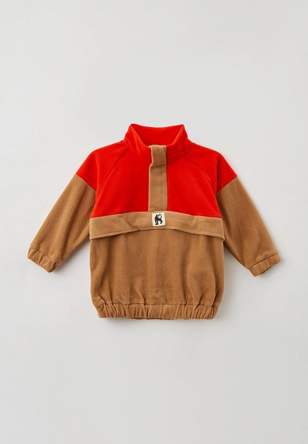олимпийка mini rodini для мальчика, коричневая