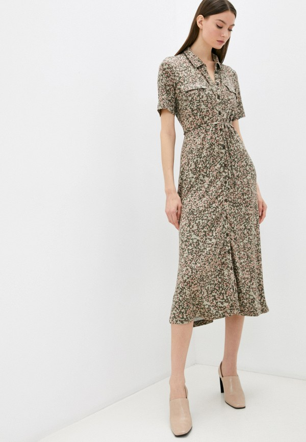 женское платье french connection, хаки