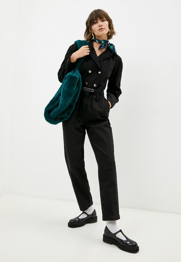 женский джинсовые комбинезон pinko, черный
