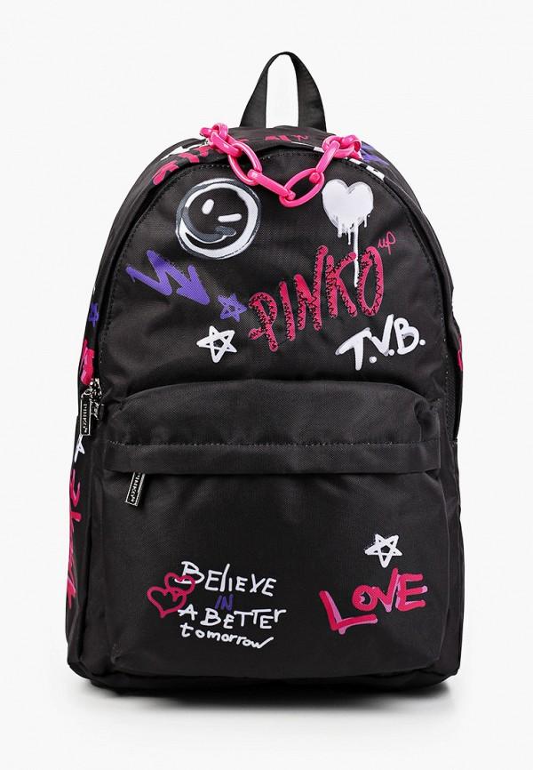 рюкзак pinko up для девочки, черный