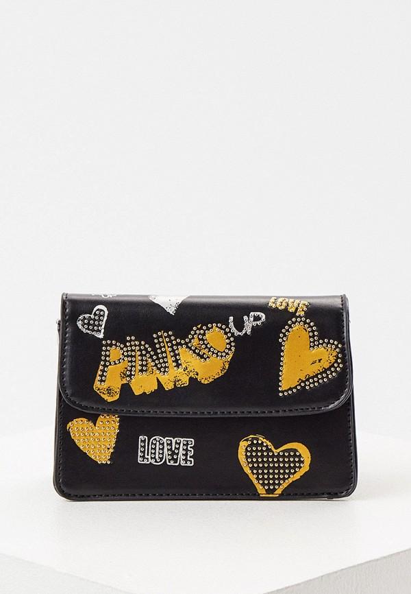 сумка pinko up для девочки, черная
