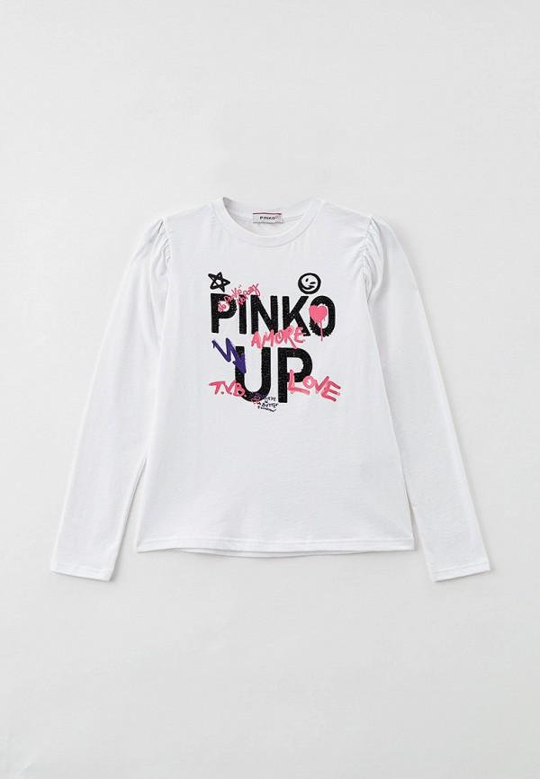 лонгслив pinko up для девочки, белый