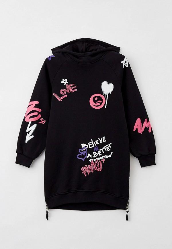 повседневные платье pinko up для девочки, черное