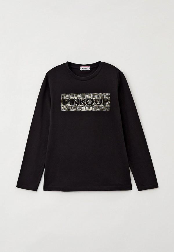 лонгслив pinko up для девочки, черный