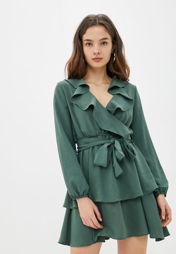 женское платье trendyol, зеленое