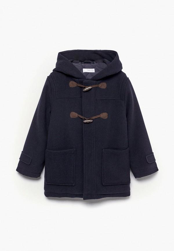 пальто mango kids для мальчика, синее