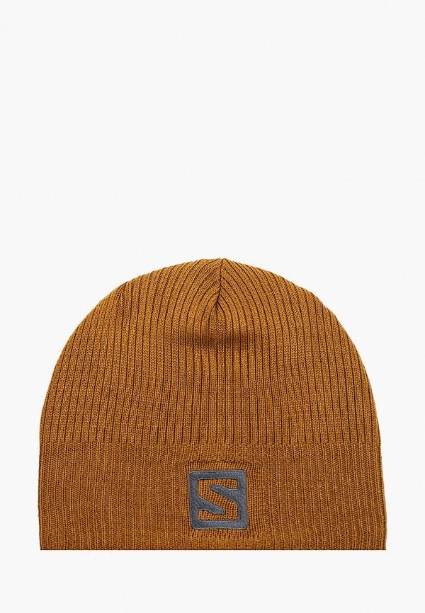 женская шапка salomon, коричневая