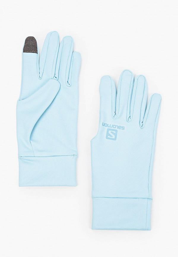 женские текстильные перчатки salomon, голубые